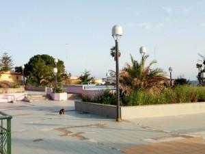illuminazione piazza fontane bianche