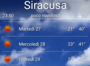 temperature siracusa
