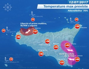 cartina temperature