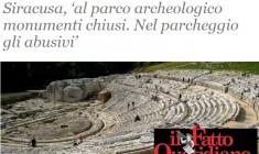 """Siracusa. """"Il parco archeologico  e l'orgoglio ferito"""", su Il Fatto Quotidiano lo sfogo di Manlio Lilli"""