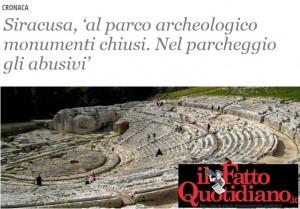 fatto quotidiano parco archeologico
