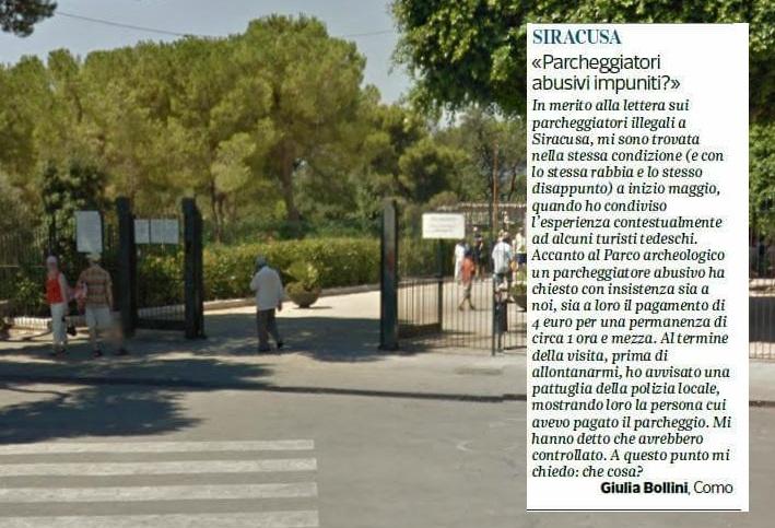 """Siracusa. La """"mala fiura"""" continua: altra lettera sul Corriere della Sera.  La risposta: presidio fisso anti-abusivi"""
