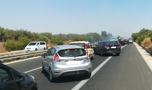 autostrada incendio