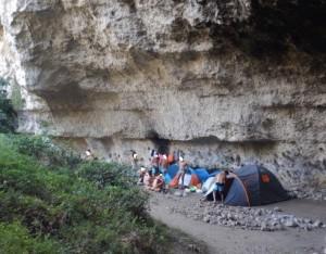 campeggio in riserva