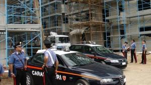 carabinieri cantiere