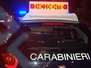 carabinieri incidente stradale