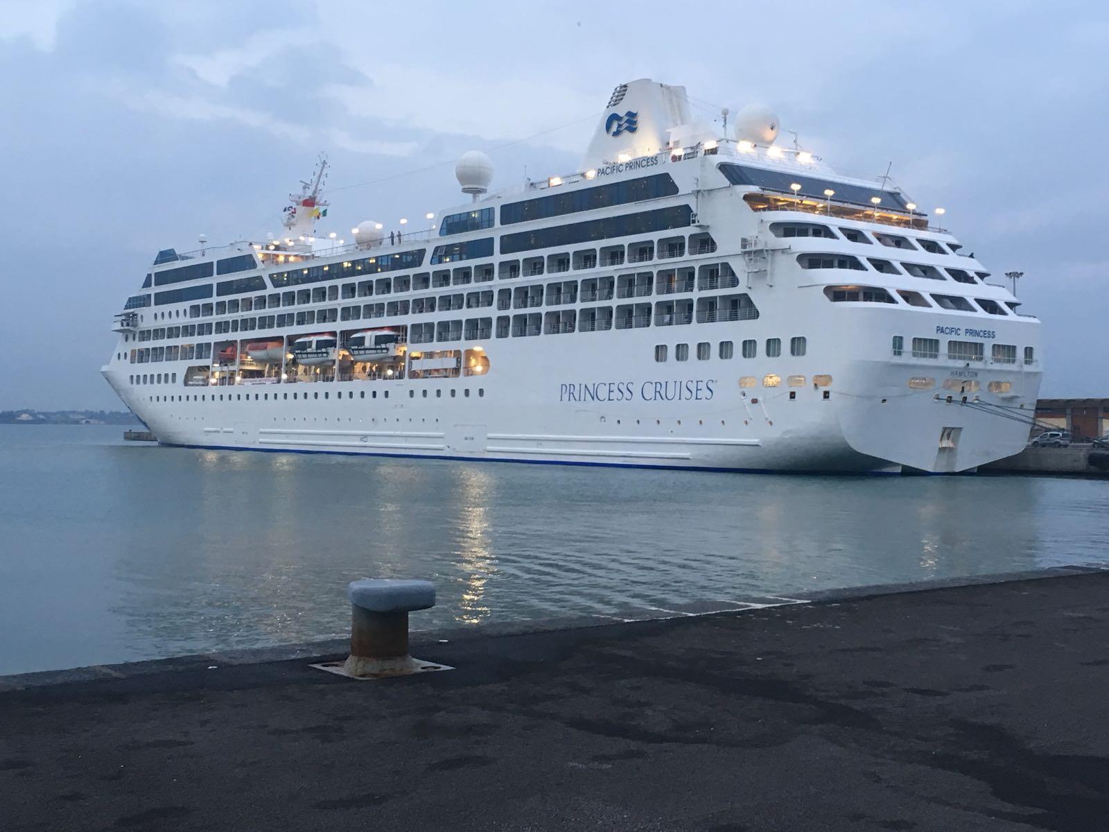 """Siracusa. Turismo: il giorno della Pacific Princess, """"test"""" di lancio per la stagione croceristica 2018"""