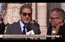 Siracusa. Il presidente della Regione, Nello Musumeci, porta il suo omaggio alla patrona Lucia