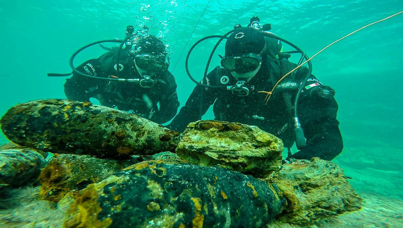 Siracusa. Ordigni bellici nelle acque del litorale di Cassibile, operazione Marina-Esercito per il brillamento