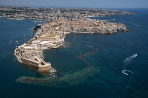 aereal view of Ortigia, Siracusa