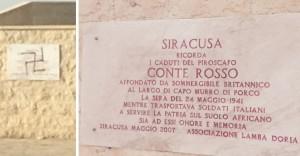 svastica monumento ai caduti